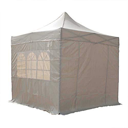 AIRWAVE Sential Pop Up Pavillon mit Seitenwänden, 2,5 x 2,5 m, Beige/Creme