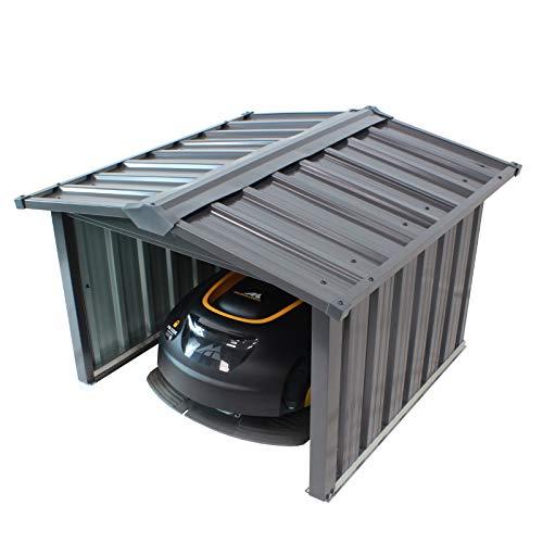 TRUTZHOLM Mähroboter Garage Metall Dach Carport Überdachung Unterstand Metall verzinkt