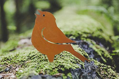 Nostalgic Garden Gartendeko Gartenstecker Vogel zum Stecken Edelrost Baumstamm Rost Deko Design - PO