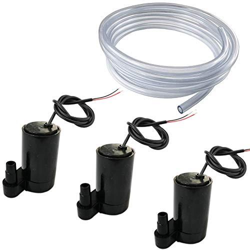 RUNCCI-YUN 3 pcs Mini Wasserpumpe Tauch Pumpe Micro Motorpumpe DC 3V 5V + 3M PVC Schlauch für...