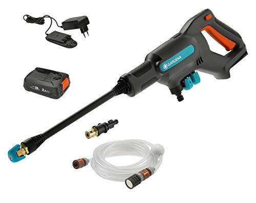 GARDENA Akku-Mitteldruckreiniger AquaClean 24/18V P4A Ready-To-Use Set: Akku-Reiniger für den...