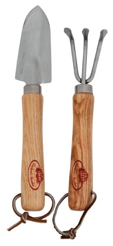 Esschert Design Mini-Tools Schippe und Harke, ca. 3,4 cm x 2,3 cm x 19 cm