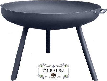 Oelbaum Formstabile XXL Feuerschale ca. 60 cm für Grill, Camping, Garten Lagerfeuer, Stahl LEICHT...
