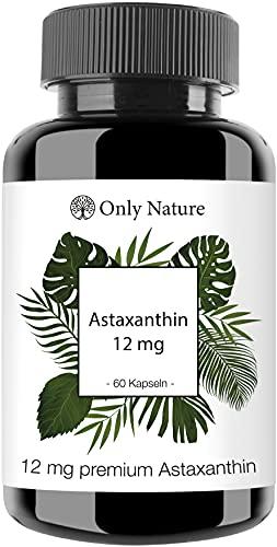 Einführungspreis (NEU): Only Nature® Astaxanthin 12 mg (+ Vitamin E) - 60 hochdosierte Kapseln -...