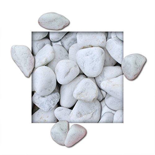 10 kg Marmorkies Carrara Weiss verschiedene Körnungen direkt vom KiesKönig® Körnung 60/100 mm