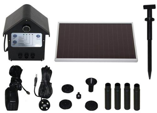 T.I.P. Solar Teichpumpe SPS 250/6, LED Beleuchtung, 3 W, bis 250 l/h Fördermenge für Gartenteich...