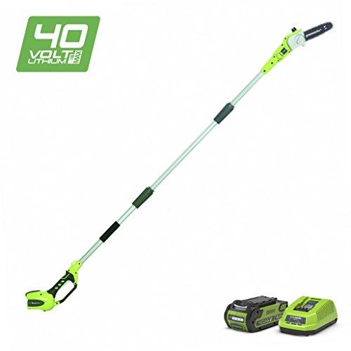 Greenworks 40V Akku-Hochentaster/Astschere 20cm, Anpassbare Länge inklusive 2Ah Akku und Ladegerät...