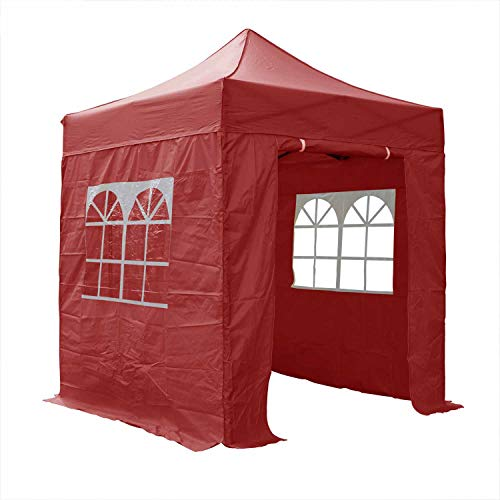 Airwave Essential Pop-Up-Pavillon mit Seiten, 2 x 2 m, Rot