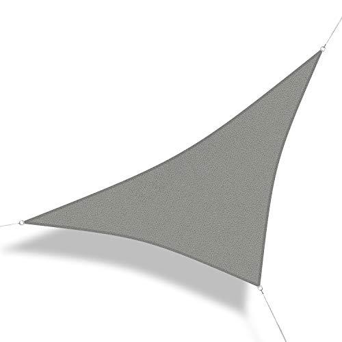 Corasol 111272 Premium Sonnensegel inkl. Zubehör, 5 x 5 x 7 m, 90° Grad Dreieck, Wind- &...