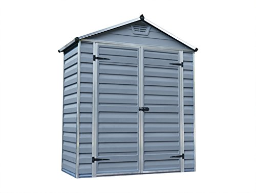 Palram Skylight Shed Gerätehäuser, dunkel grau / anthrazit, 90.2 x 184.2 x 217 cm
