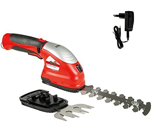 Grizzly Tools 2-in-1 Akku-Garten-Scheren Set inkl. Li-Ion Akku 7.2 V (2.0 Ah) und Schnellladegerät,...