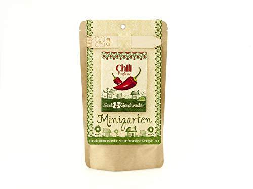 Die Stadtgärtner Minigarten Chili'Fireflame' | Komplettes Anzuchtset für scharfe, rote Chilis |...