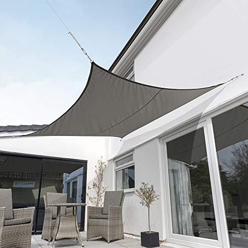 Kookaburra Wasserfest Sonnensegel Anthrazit Wasserabweisend Imprägniert Wetterschutz 98% UV Schutz...