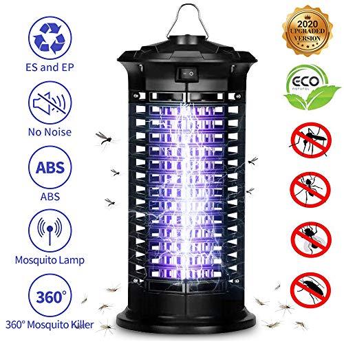 DIGDAN Elektrischer Insektenvernichter, Schutz vor Elektrischem Schlag Tragbare UV Moskito Killer...