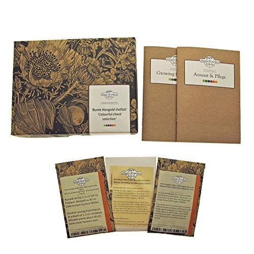 Bunte Mangold-Vielfalt - Samen-Geschenkset mit 3 farbenfrohen Mangoldsorten