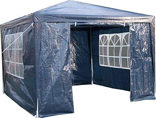 Airwave Pavillon 3 x 3 m, blau, Inklusive 1 x einzigartig gestalteter Windstangen für besondere...