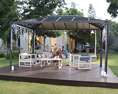 Palram Martinique 4300 Gartenpavillon: Höchst widerstandsfähig, Hardtop Pavillon 430 x296 cm....
