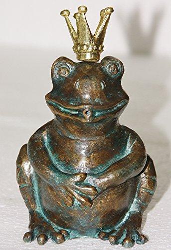 Steinfiguren Horn Bronzefigur Wasserspeier Frosch