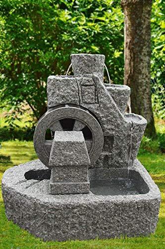 Troester's Brunnenwelt Granitbrunnen 'Mühlrad' groß