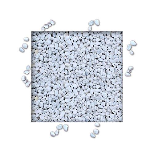 10 kg Marmorkies Carrara Weiss verschiedene Körnungen direkt vom KiesKönig® Körnung 5/12 mm