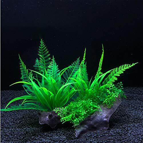 Dulau 2 Stück künstliche Wasserpflanzen, Aquarium Wasserpflanzen, Kunststoff Aquarium Künstliche...