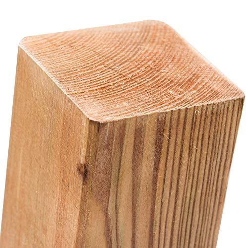 Imprägnierte Holzpfosten (KDI) 7x7x80cm · Vierkant Zaunpfähle in 18 Größen aus Kiefer mit...