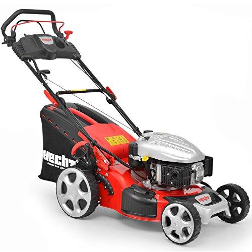 HECHT Benzin-Rasenmäher 548 SWE Mäher (3,7 kW (5,0 PS) E-Start, 46 cm, 60 L)