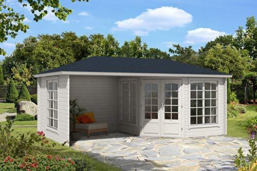 Alpholz 5-Eck Gartenhaus Josephine-40 Royal aus Massiv-Holz | Gerätehaus mit 40 mm Wandstärke |...