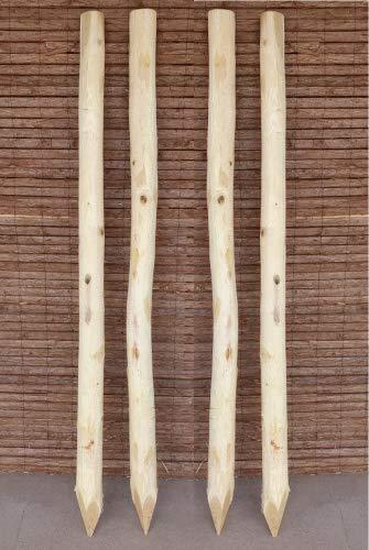 Zaunpfosten Akazie 180 cm / 25 Stück - Holzpfosten für Staketenzäune - Runde Robinien Holzpfosten...