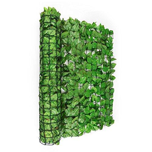 blumfeldt Fency Bright Leaf - Sichtschutz, Windschutz, Lärmschutz, 300 x 100 cm, Buchenblätter,...
