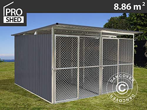 Dancover Hundezwinger 3,22x2,75x1,86m ProShed®, Anthrazit