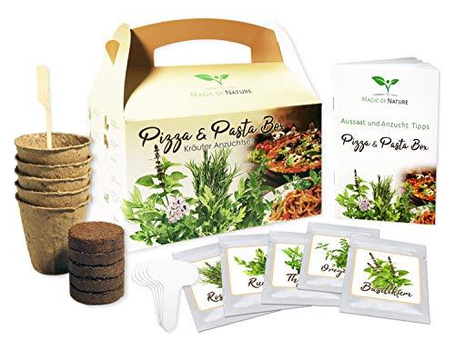Pizza & Pasta Box - Kräuter Anzuchtset - zum Selberzüchten oder zum Verschenken - eine originelle...
