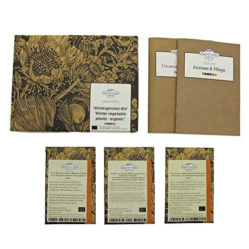 Wintergemüse (Bio) - Samen-Geschenkset mit 3 frosttoleranten Gemüsesorten für die Aussaat im...