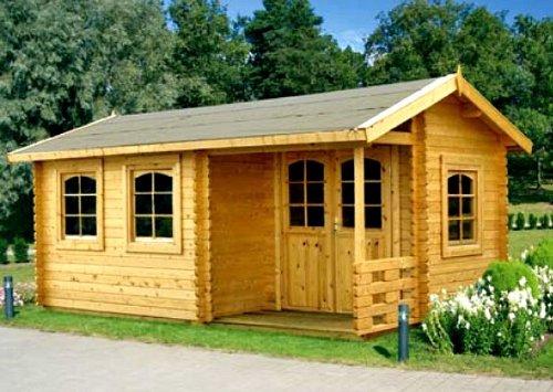 Gartenhaus SUSAN Blockhaus 530cm x 320cm - 45mm Gartenlaube Holzhaus Holzlaube