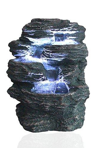 Arnusa Springbrunnen Niagara mit LED Beleuchtung IN-&Outdoor Zimmerbrunnen Gartenbrunnen...