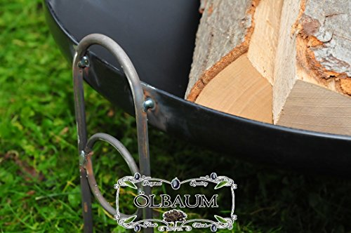 ÖLBAUM XXL Premium-Feuerschale ca. 80 cm / 88-90 cm breit für Grill, Camping, Garten Lagerfeuer,...