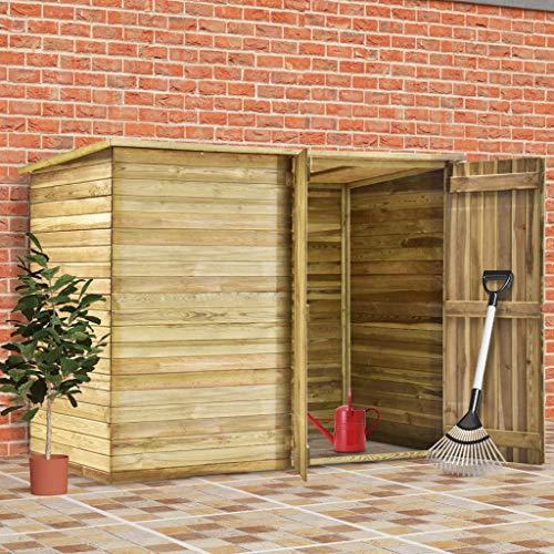 Festnight Garten-Gerätehaus 232 x 110 x 170 cm Kiefernholz Imprägniert Geräteschrank Gartenhaus