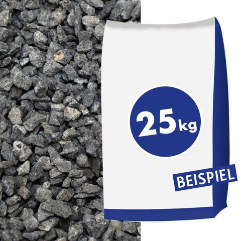 Hamann Mercatus GmbH Basaltsplitt Eifelschwarz 8-11mm 25kg Sack