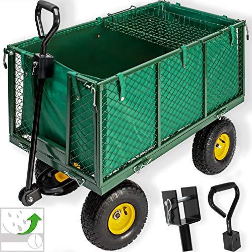 KESSER® Bollerwagen 550kg belastbar Gartenwagen Transportwagen Gartenkarre herausnehmbare Plane...