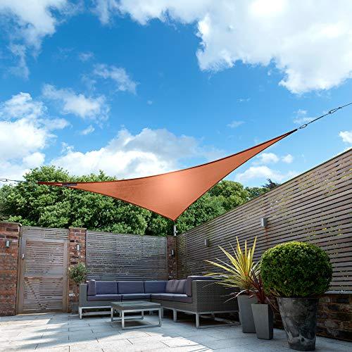 Kookaburra Wasserfest Sonnensegel Terrakotta Wasserabweisend Imprägniert Wetterschutz 98% UV Schutz...