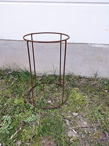 Zen Man Edelrost Ständer für Feuerschale Pflanzschale Rost Gartendeko Handarbeit (031932-1: 34.5 *...