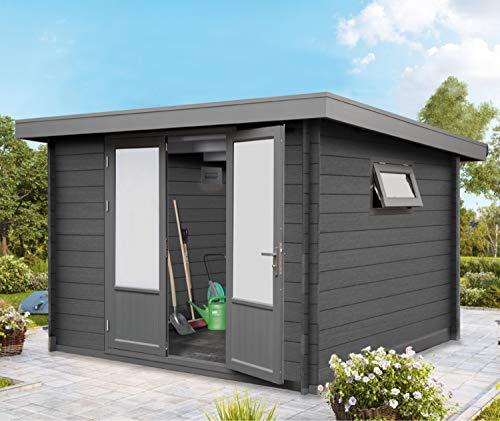 Wolff Finnhaus Gartenhaus I Gerätehaus aus WPC I 287 x 287 cm I Modell: Trend D