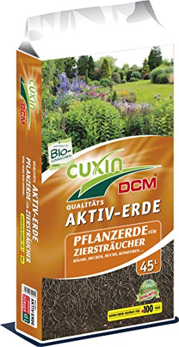 Cuxin Bio Pflanzerde⎜für Obst, Ziersträucher, Bäume, Koniferen, Hecken und Buchsbäume⎜mit...