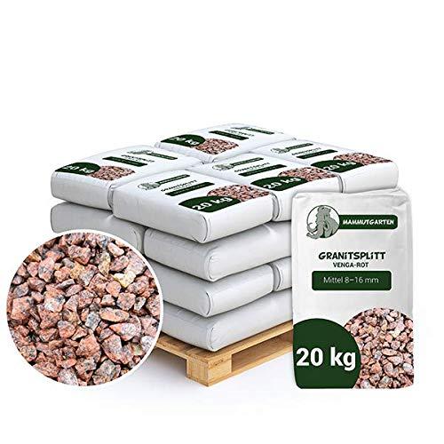 Granitsplitt Deko Splitt Gartenkies Buntkies Rot Fein 8-16mm Sack 20kg x 25Stk (500kg)