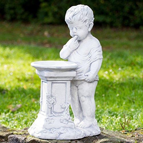 ROWE Deko Gartenfigur Junge mit Vogeltränke