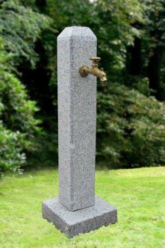 Troester's Brunnenwelt Petronell Grau (101 cm Hoch, 75 kg) mit Wasserhahn und...