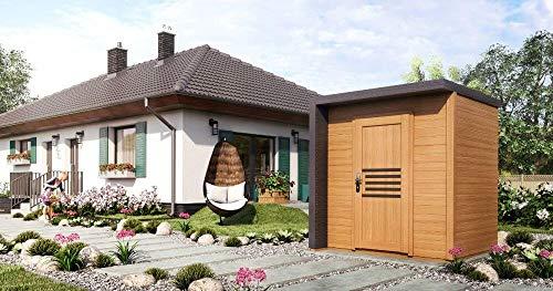 Alpholz Gartenhaus Bratek aus Massiv-Holz   Gerätehaus mit 19 mm Wandstärke   Garten Holzhaus...