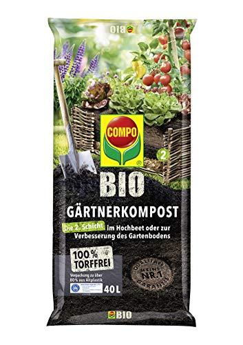 COMPO BIO Gärtner-Kompost zur Intensivierung der Bodenaktivität im Garten und Hochbeet,...