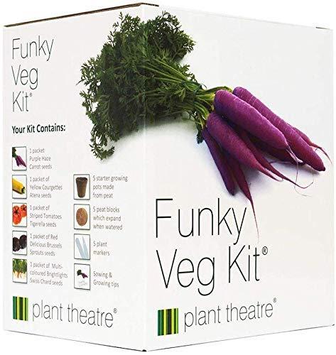 """Plant Theatre """"Funky Veg"""" Saatgut-Kit - Anzuchtset mit Samen für 5 alte Gemüsesorten - Mit..."""