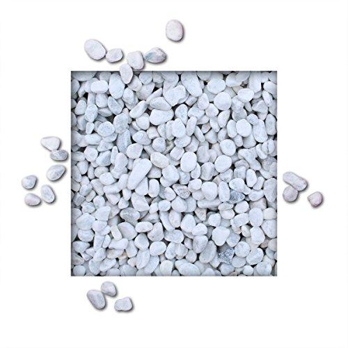Kieskönig 5 kg Marmorkies Carrara Weiss Verschiedene Körnungen Direkt Körnung 15/25 mm